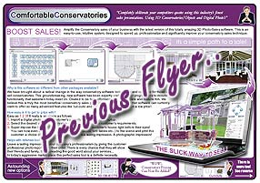 Right click here and select 'save as' to download this previous ComfortableConservatories Conservatory information flier to your computer for viewing. size = 764KB