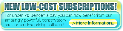 Low cost Subscriptions for windows or conservatories software